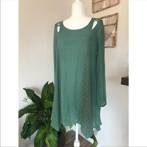 Entro long sleeve boho dress with pockets